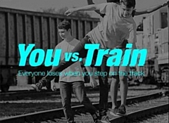 British Transport Police and Network Rail run a hard-hitting safety campaign � You Vs Train, which highlights the devastating consequences of trespassing on the railway