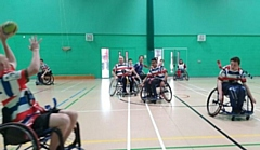 Rochdale Hornets Wheelchair Rugby League team at training