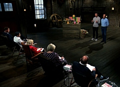 Founder and MD, Richard Clark and his UK Sales Director, Paul Briscoe, in the Dragons' Den