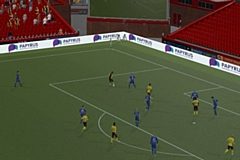 The PAPYRUS pitchside advertising in Football Manager 2020