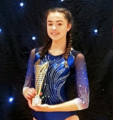 Trampolinist Izzy Bradley-Harris finished third in the Year 9-10 Novice class at the National Trampoline Final