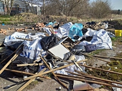 Fly-tipping at Riverside Drive, Rochdale