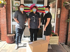 Oakland Care Home in Rochdale receive PPE donated by Baum Trading