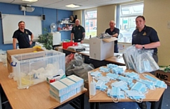 Community First Responders in Greater Manchester support with packing personal protective equipment