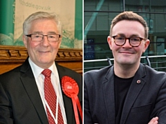 Tony Lloyd, MP for Rochdale, and Chris Clarkson, MP for Heywood & Middleton