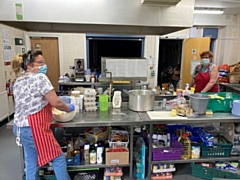 Petrus staff members Jeannie and Wendy have helped prepare over 2,500 meals during lockdown