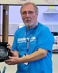Henry Gerber with his Inspire Award from Diabetes UK