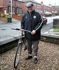 David Clough was known for riding his bike round Littleborough collecting his pools and goldbond money