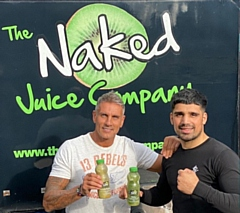 Wayne Redman from The Naked Juice Company with boxer Muhammad Ali