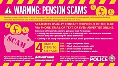 Watch out if an individual or company contacts you unexpectedly about your pension
