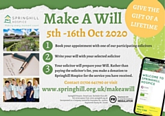 Solicitors are waiving their fee and instead asking for a donation to Springhill Hospice for their services