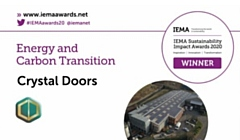Crystal Doors won the Energy and Carbon Transition category in the virtual IEMA Sustainability Impact Awards 2020
