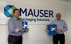 Pete Williamson (left) and Kevin Cundy (right) with Daniels Healthcare Eco Pharmi Containers