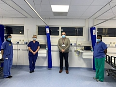 The new Greater Manchester Endoscopy Modular Unit based at Fairfield General Hospital