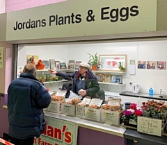 Jordan's Eggs and Plants stall is now located in Rochdale Exchange Shopping Centre