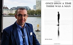 Author Peter Scholes and the cover of Once Upon A Time There Was A Man