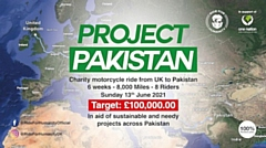 Ride For Humanity will be riding 8,000 miles - the equivalent of riding from Rochdale to Pakistan