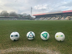 Icon's footballs which will now become the official ball of choice for Rochdale AFC Community Trust