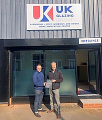 Managing director Christopher Barton (left) is celebrating UK Glazing Group reaching two years trading