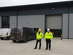 L-R: Managing Director Michael Sirrell and operations and supply chain manager, Ian Cockcroft outside the new premises