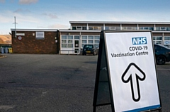 Vaccination centre at Littleborough Sports Centre