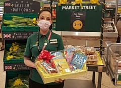 Emma Pedgrift, Community Champion from the Morrisons store in Rochdale delivered the books to Sacred Heart Primary School