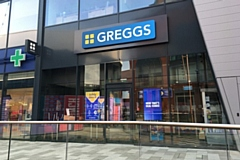 The new Greggs store at Rochdale Riverside