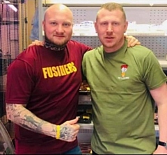 Darren Rushton and Stephen Bamford, Cryers Butchers Littleborough
