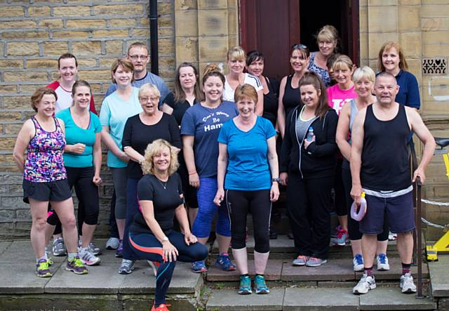Members of the Couch 2 5K programme at Littleborough Boxing & Fitness Club
