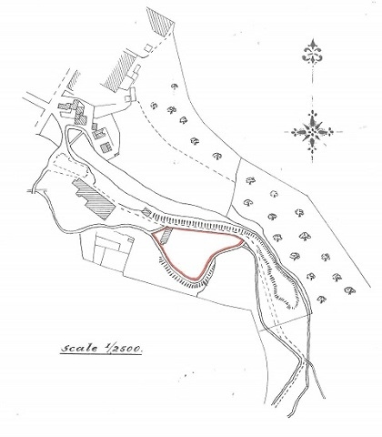 Plan of the land intended to be sold at Ealees