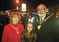 Kara Decoza with Mayor Surinder Biant and Mayoress Cecile Biant