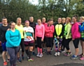 Gill Lowe with her newly formed running group LABC Runners.
